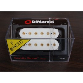 DiMarzio Gravity Storm Bridge Pickup DP253 (White w/ Gold Poles F-Spaced)