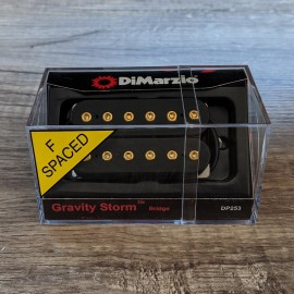 DiMarzio Gravity Storm Bridge DP253 F-Spaced (Black w/ Gold Bolts)