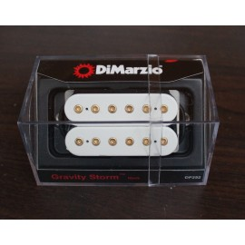 DiMarzio Gravity Storm Neck Pickup DP252 White w/ Gold Poles