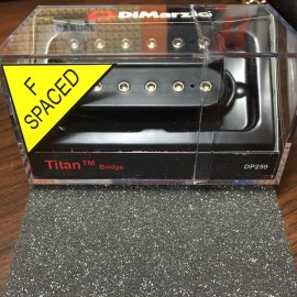 DiMarzio Titan 6 Bridge Model F-Spaced DP259 Pickup Black