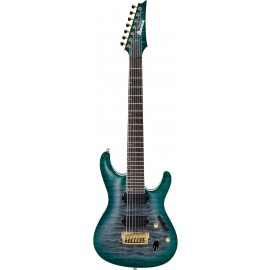 Ibanez S5527QFX Prestige 7-String (Dark Green Doom Burst)