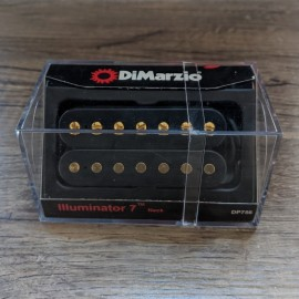 DiMarzio Illuminator 7 Neck Model DP756 (Black w/ Gold Poles) 7-String Pickup