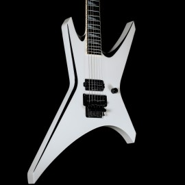 Jackson Custom Shop USA WR1 Snow White w/ Black Bevels (1 Hum, Floyd Rose)