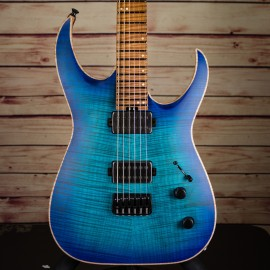Jackson USA Misha Mansoor Juggernaut HT6FM Satin Laguna Burst w/ Caramelized Flame Maple Fingerboard