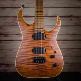 Jackson USA Misha Mansoor Juggernaut HT6FM Satin Amber Tiger Eye w/ Caramelized Flame Maple Fingerboard
