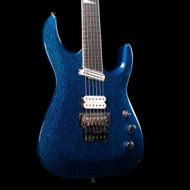 Jackson Limited Edition Wildcard Series Soloist Arch Top Extreme SL27 EX, Ebony Fingerboard, Blue Sparkle