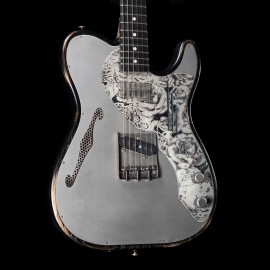 James Trussart Deluxe Steel-Top-Caster (Antique Silver Top on Swamp Ash Body)
