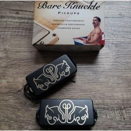 Bare Knuckle Juggernaut 7-String Calibrated Pickup Set (Black Satin Cover w/ Bulb Etch)