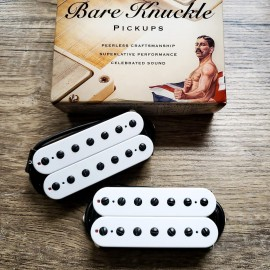 Bare Knuckle Juggernaut 7-String Calibrated Pickup Set (White w/ Black Screws, Matte Finish)