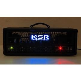 KSR Juno 100W EL34 3-Channel Tube Amplifier Head (Black w/ Metal LED Panel)