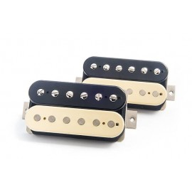 "Bare Knuckle ""Brute Force"" 6 String Guitar Humbucker Pickup Set (Zebra,Open-Coil) - Boot Camp Series"