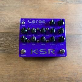 KSR Ceres 3-Channel Preamp Pedal - Purple Sparkle