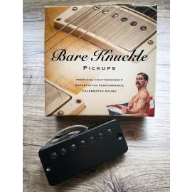 Bare Knuckle Alnico Nailbomb 7-String Bridge Pickup Set (Black Soapbar Cover w/ Black Poles)
