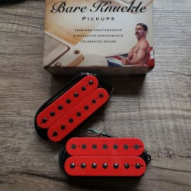 Bare Knuckle Nailbomb 7-String Calibrated Pickup Set (Red w/Black Screws)