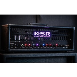 KSR Gemini 100 Amp Head w/ LED Metal Field Panel (Rhodes Amplification)