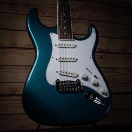 G&L USA Legacy Emerald Blue Betallic w/ Bound Rosewood FIngerboard
