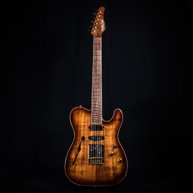 Schecter Masterworks PT ET Nashville Semi-Hollow (Figured Hawaiian Koa Body & Neck) - USA Custom Shop