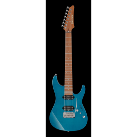 Ibanez Prestige MM7 Martin Miller Signature Model 7-String - Transparent Aqua Blue (PRE-ORDER)