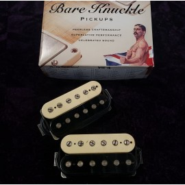 Bare Knuckle VHII 6 String Calibrated Set - Aged Zebra with Aged Nickel Screws
