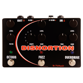 Pigtronix Disnortion Parallel Overdrive & Fuzz w/ Octave Up Pedal