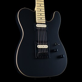 Schecter USA Custom PT Satin Black with Maple Fingerboard & Matching Headstock