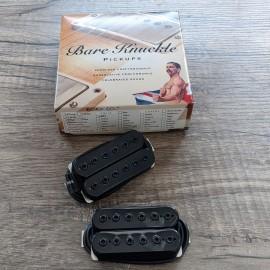 Bare Knuckle Warpig 6-String Calibrated Pickup Set (Black, Black Bolts)