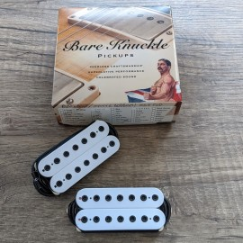 Bare Knuckle Silo 7-String Pickup Set (White w/ Black Bolts)