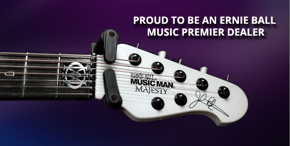 Proud To Be An Ernie Ball Music Premier Dealer